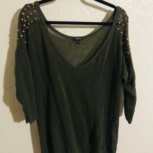 Torrid Green Sweater